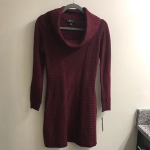 NWT BCX maroon cowl neck sweater dress